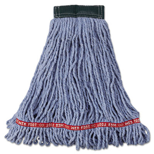 Rubbermaid Commercial Web Foot Wet Mop Head  Shrinkless  Cotton Synthetic  Blue  Medium  6 Carton (RCP A252 BLU)