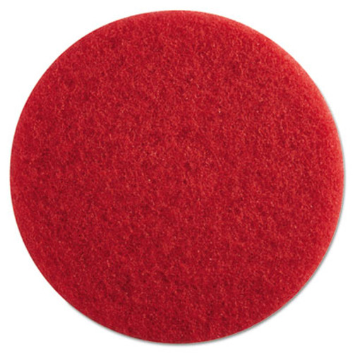 "Boardwalk Standard Floor Pads, 13"" dia, Red, 5/Carton (PAD 4013 RED)"