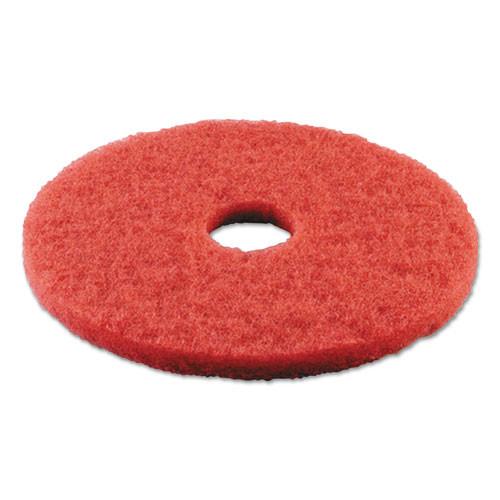 Boardwalk Buffing Floor Pads  13  Diameter  Red  5 Carton (PAD 4013 RED)
