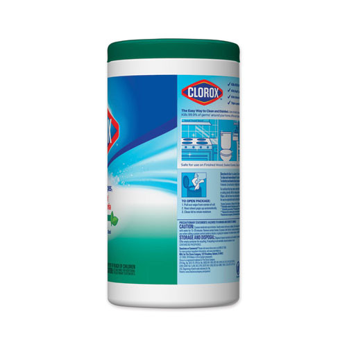 Clorox Disinfecting Wipes  Fresh Scent  7 x 8  White  75 Canister  6 Canisters Carton (CLO 01656)