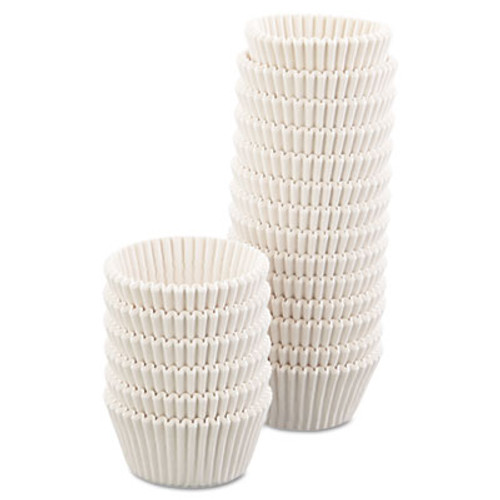 Hoffmaster Fluted Bake Cups, 4 1/2 dia x 1 1/4h, White, 500/Pack, 20 Pack/Carton (HFM 610032)