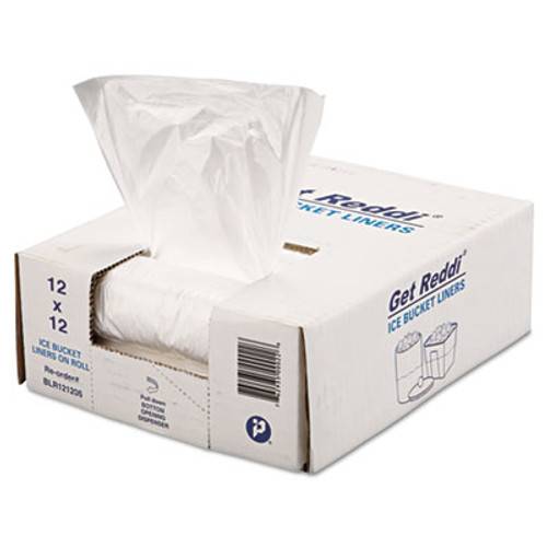 Inteplast Group Ice Bucket Liner Bags  3 qt  0 24 mil  12  x 12   Clear  1 000 Carton (IBS BLR121206)