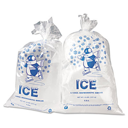 Inteplast Group Ice Bags  1 5 mil  11  x 20   Clear  1 000 Carton (IBS IC1120)