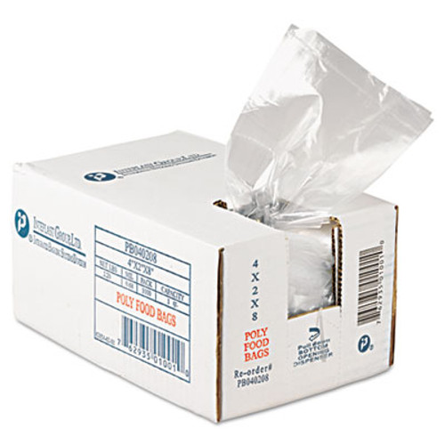 Inteplast Group Get Reddi Food & Poly Bag, 4 x 2 x 8, 16oz, .68mil, Clear, 1000/Carton (IBS PB040208)