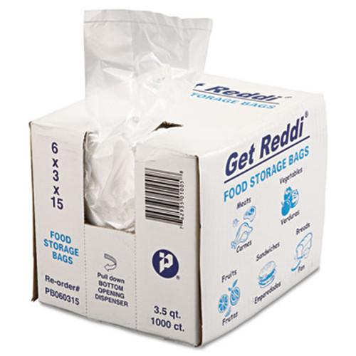 Inteplast Group Food Bags  3 5 qt  0 68 mil  6  x 15   Clear  1 000 Carton (IBS PB060315)