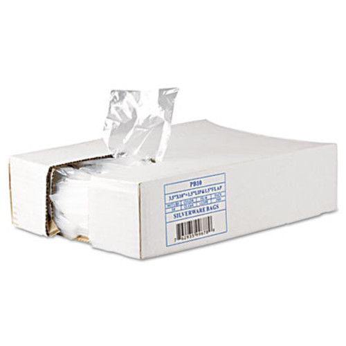 Inteplast Group Silverware Bags  0 7 mil  3 5  x 1 5   Clear  2 000 Carton (IBS PB10)