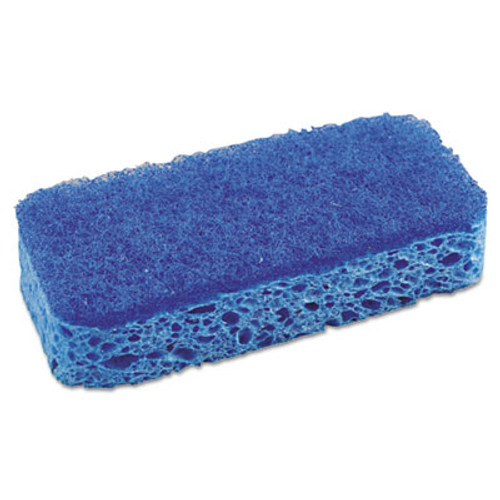 "S.O.S. All Surface Scrubber Sponge, 2 1/2 x 4 1/2, 1"" Thick, Blue, 12/Carton (CLO 91017)"