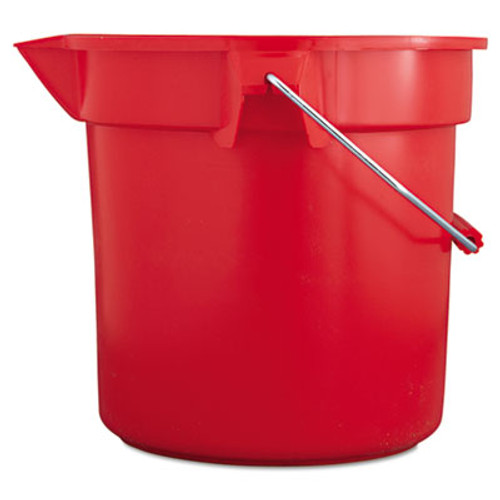 Rubbermaid Commercial BRUTE Round Utility Pail  14qt  Red (RCP 2614 RED)
