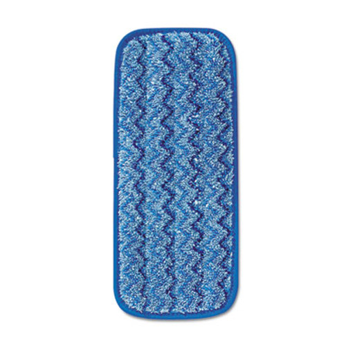 Rubbermaid Commercial Microfiber Wall Stair Wet Mopping Pad  Blue  13 3 4w x 5 1 2d x 1 2h (RCP Q820 BLU)