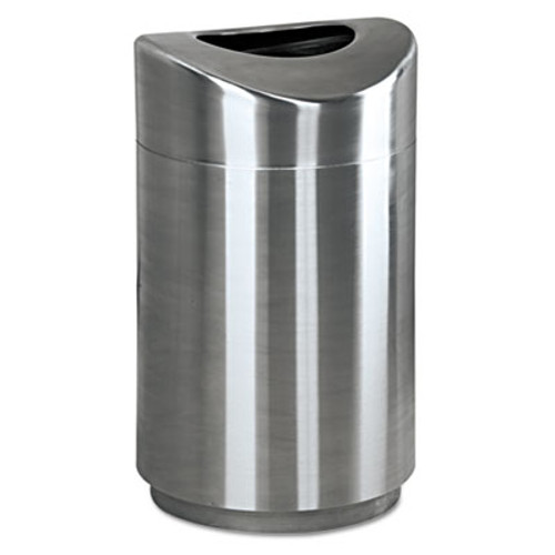 Rubbermaid Commercial Eclipse Open Top Waste Receptacle, Round, Steel, 30gal, Stainless Steel (RCP R2030SSPL)