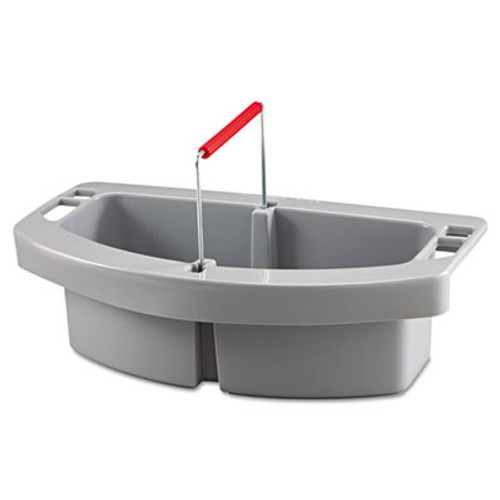 Rubbermaid Commercial Maid Caddy  2-Compartment  16w x 9d x 5h  Gray (RCP 2649 GRA)