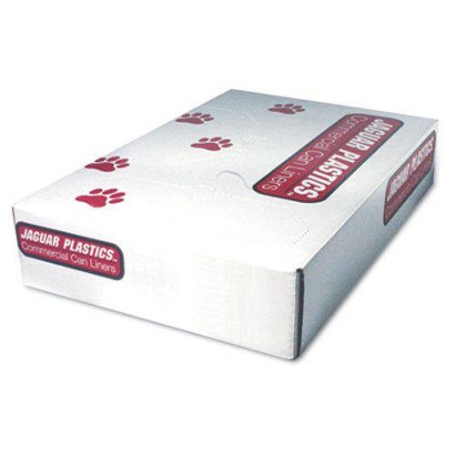 Jaguar Plastics Low-Density Can Liner, 38 x 58, 60gal, 1.1mil, Gray, 100/Carton (JAG 3858 GREY)