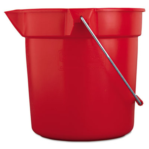 Rubbermaid Commercial BRUTE Round Utility Pail  10qt  Red (RCP 2963 RED)