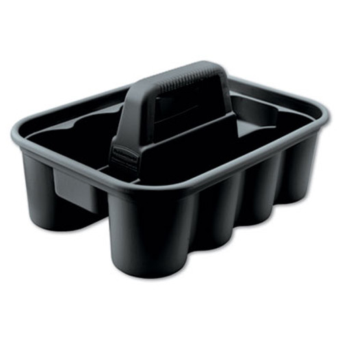 Rubbermaid Commercial Deluxe Carry Caddy  8-Compartment  15w x 7 4h  Black (RCP 3154-88 BLA)