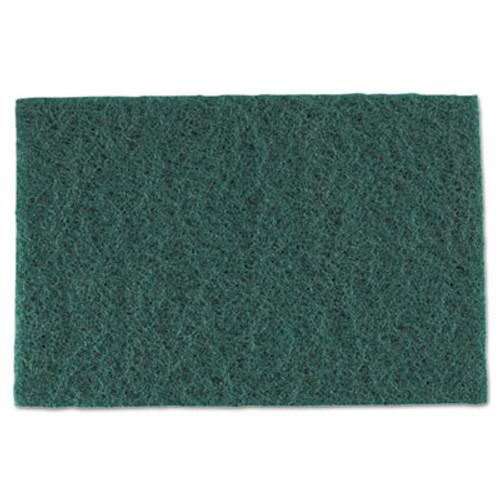 AmerCareRoyal Medium-Duty Scouring Pad  6 x 9  Green  60 Carton (RPP S960)