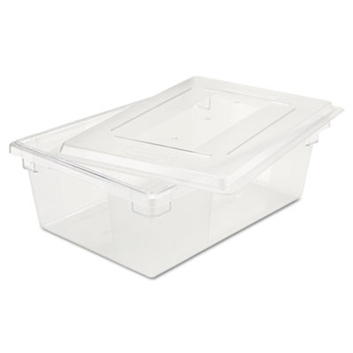 Rubbermaid Commercial Food Tote Boxes  12 1 2gal  26w x 18d x 9h  Clear (RCP 3300 CLE)