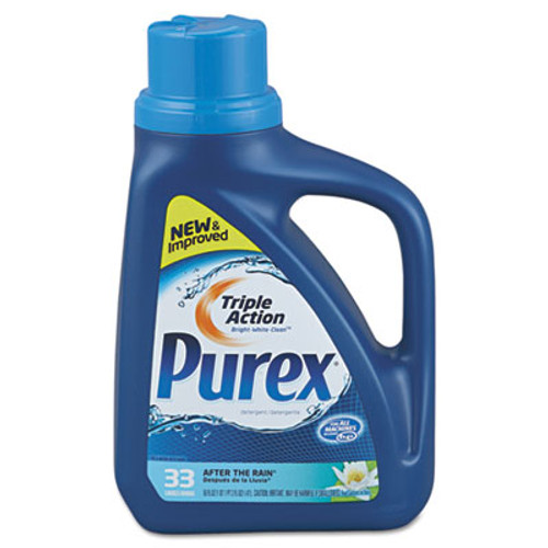 Purex Liquid HE Detergent  After the Rain Scent  50oz Bottle  6 Carton (DIA 04789)