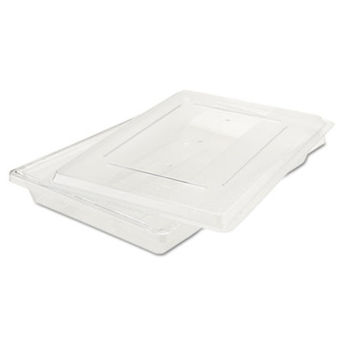 Rubbermaid Commercial Food/Tote Boxes, 5gal, 26w x 18d x 3 1/2h, Clear (RCP 3306 CLE)