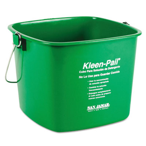San Jamar Kleen-Pail  6qt  Plastic  Green  12 Carton (SAN KP196GN)