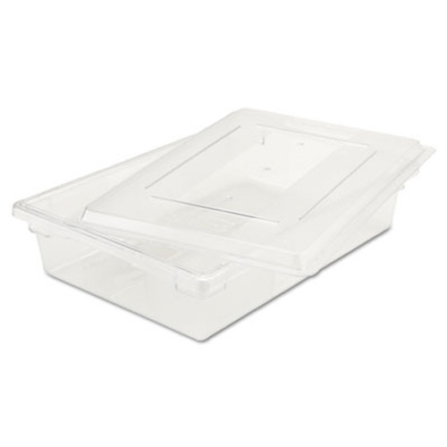 Rubbermaid Commercial Food Tote Boxes  8 1 2gal  26w x 18d x 6h  Clear (RCP 3308 CLE)