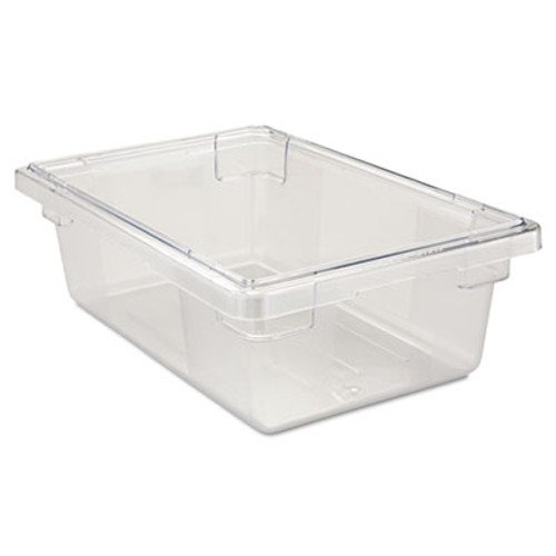 Rubbermaid Commercial Food Tote Boxes  3 1 2gal  18w x 12d x 6h  Clear (RCP 3309 CLE)