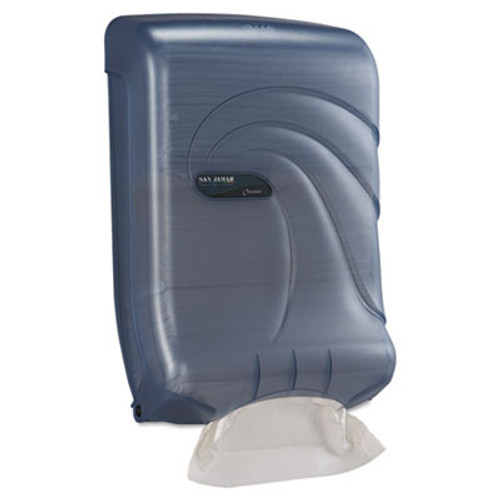 San Jamar Ultrafold Multifold C-Fold Towel Dispenser  Oceans  Blue  11 3 4 x 6 1 4 x 18 (SAN T1790TBL)