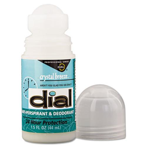Dial Anti-Perspirant Deodorant, Crystal Breeze, 1.5oz, Roll-On, 48/Carton (DIA 07686)