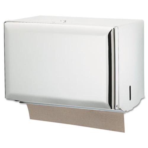 San Jamar Singlefold Paper Towel Dispenser  White  10 3 4 x 6 x 7 1 2 (SAN T1800WH)