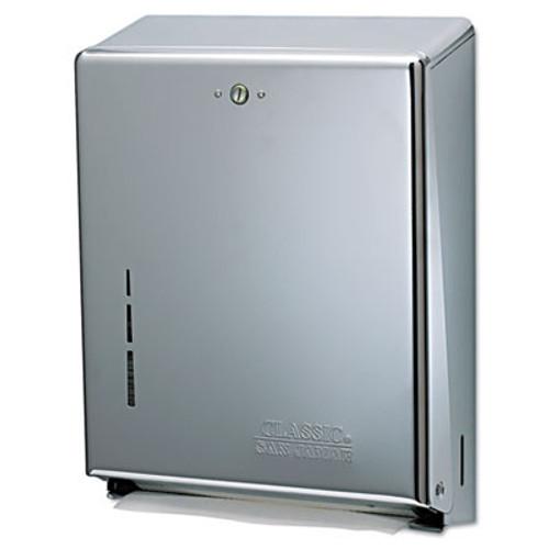 San Jamar C-Fold Multifold Towel Dispenser  Chrome   11 3 8 x 4 x 14 3 4 (SAN T1900XC)