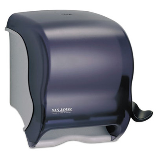 San Jamar Element Lever Roll Towel Dispenser  Classic  Black  12 1 2 x 8 1 2 x 12 3 4 (SAN T950TBK)