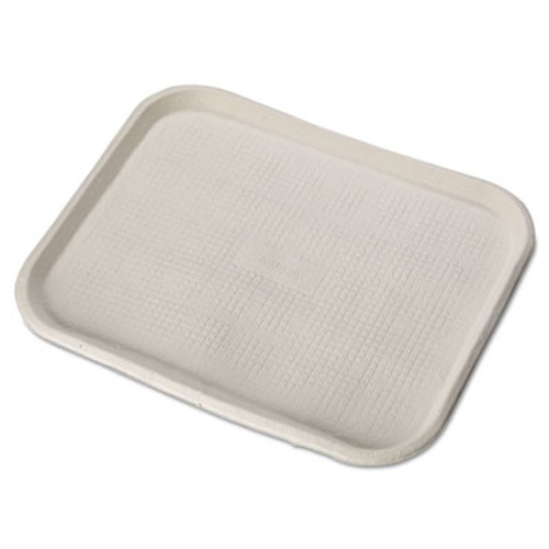 Chinet Savaday Molded Fiber Food Trays  14 x 18  White  Rectangular  100 Carton (HUH FARM)