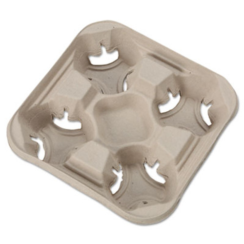 Chinet StrongHolder Molded Fiber Cup Trays  8-32oz  Four Cups  300 Carton (HUH FLIGHT)