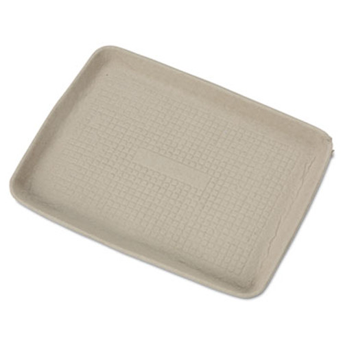 Chinet StrongHolder Molded Fiber Food Trays  9 x 12 x 1  Beige  Rectangular  250 Carton (HUH TUG)