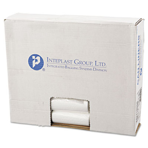 Inteplast Group High-Density Can Liner, 17 x 18, 4gal, 6 Micron, Clear, 50/Roll, 40 Rolls/Carton (IBS EC171806N)