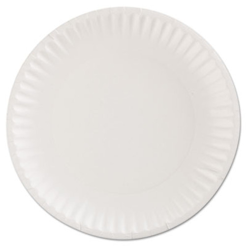 AJM Packaging Corporation Gold Label Coated Paper Plates  9  dia  White  100 Pack  10 Packs Carton (AJMCP9GOEWH)