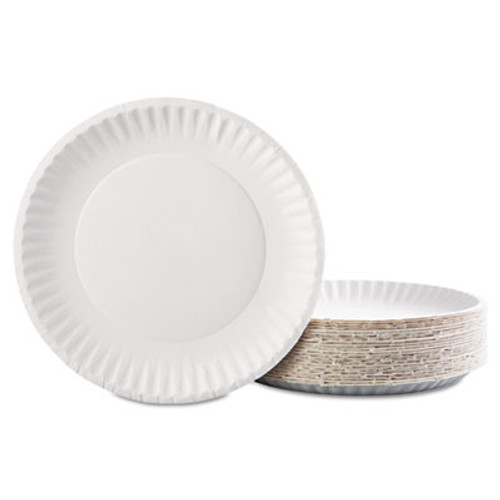 AJMCP9GOAWH 1,200 Plates AJM Coated Paper Plates 9 Inches White Round