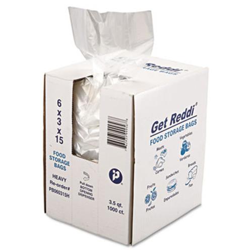 Inteplast Group Food Bags  3 5 qt  1 mil  6  x 15   Clear  1 000 Carton (IBS PB060315H)