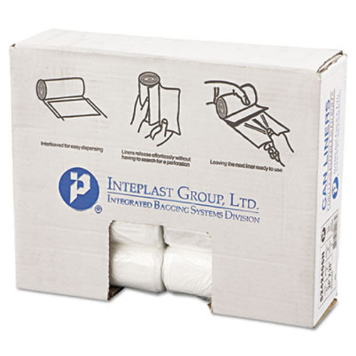 Inteplast Group High-Density Commercial Can Liners  10 gal  6 microns  24  x 24   Natural  1 000 Carton (IBS S242406N)