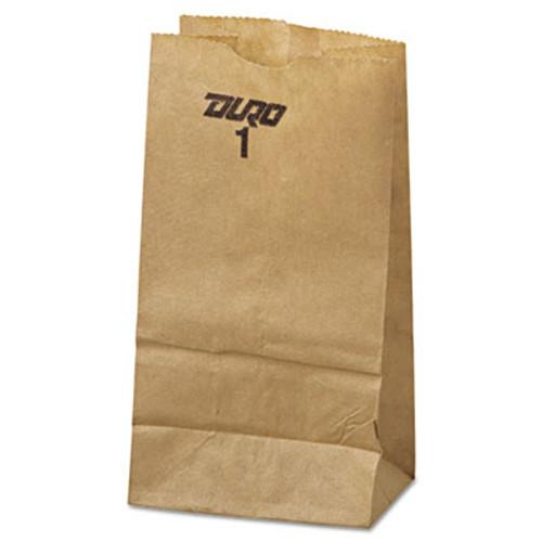 General #1 Paper Grocery Bag, 30lb Kraft, Standard 3 1/2 x 7 3/8 x 6 7/8, 500 bags (BAG GK1-500)
