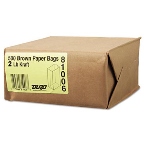 General Grocery Paper Bags  30 lbs Capacity   2  4 31 w x 2 44 d x 7 88 h  Kraft  500 Bags (BAG GK2-500)