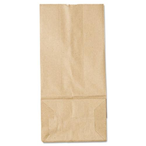 General #8 Paper Grocery Bag 35lb Kraft Standard 6 1//8 x 4 1//6 x 12 7//16 500