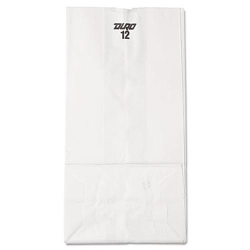 General Grocery Paper Bags  40 lbs Capacity   12  7 06 w x 4 5 d x 13 75 h  White  500 Bags (BAG GW12-500)