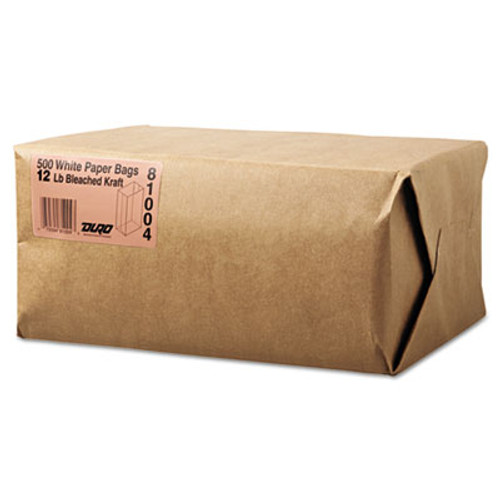 General Grocery Paper Bags  40 lbs Capacity   12  7 06 w x 4 5 d x 13 75 h  White  500 Bags (BAG GW12-500)