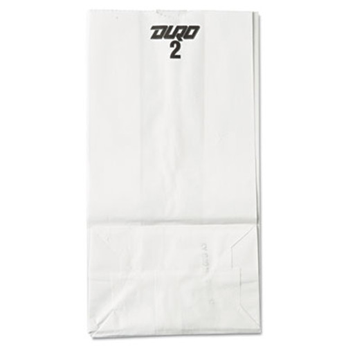 General Grocery Paper Bags  30 lbs Capacity   2  4 31 w x 2 44 d x 7 88 h  White  500 Bags (BAG GW2-500)
