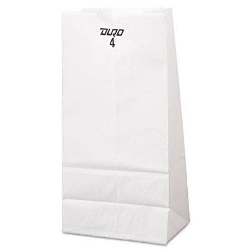 General #4 Paper Grocery Bag, 30lb White, Standard 5 x 3 1/3 x 9 3/4, 500 bags (BAG GW4-500)