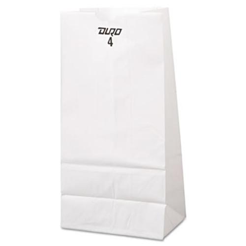 General Grocery Paper Bags  30 lbs Capacity   4  5 w x 3 33 d x 9 75 h  White  500 Bags (BAG GW4-500)