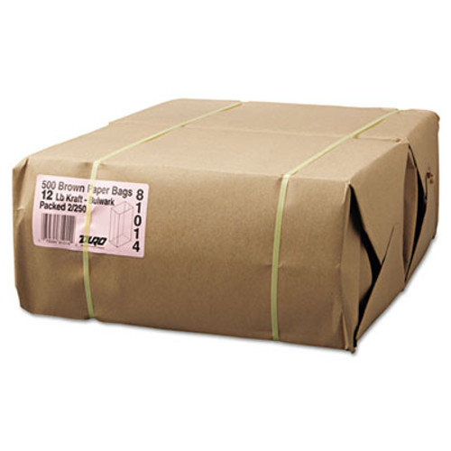 General Grocery Paper Bags  57 lbs Capacity   12  7 06 w x 4 5 d x 13 75 h  Kraft  500 Bags (BAG GX12-500)