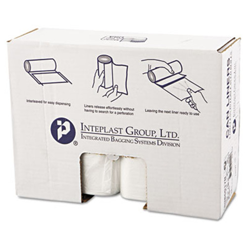 Inteplast Group High-Density Interleaved Commercial Can Liners  60 gal  17 microns  38  x 60   Clear  200 Carton (IBS S386017N)