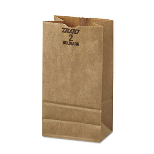 General Grocery Paper Bags  52 lbs Capacity   2  8 13 w x 4 25 d x 9 75 h  Kraft  500 Bags (BAG GX2-500)