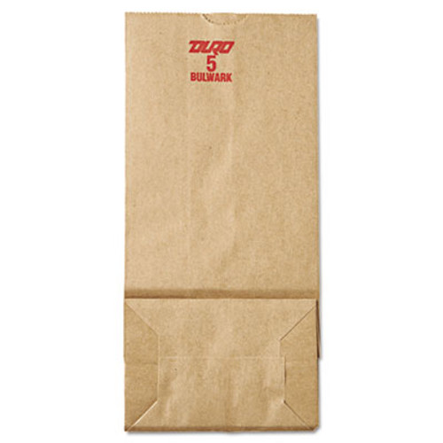 General #5 Paper Grocery, 50lb Kraft, Extra-Heavy-Duty 5 1/4x3 7/16 x10 15/16, 500 bags (BAG GX5-500)